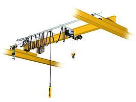 Кран мостовой однобалочный опорный однопролётный  г/п 1 т пролет 22,5 м