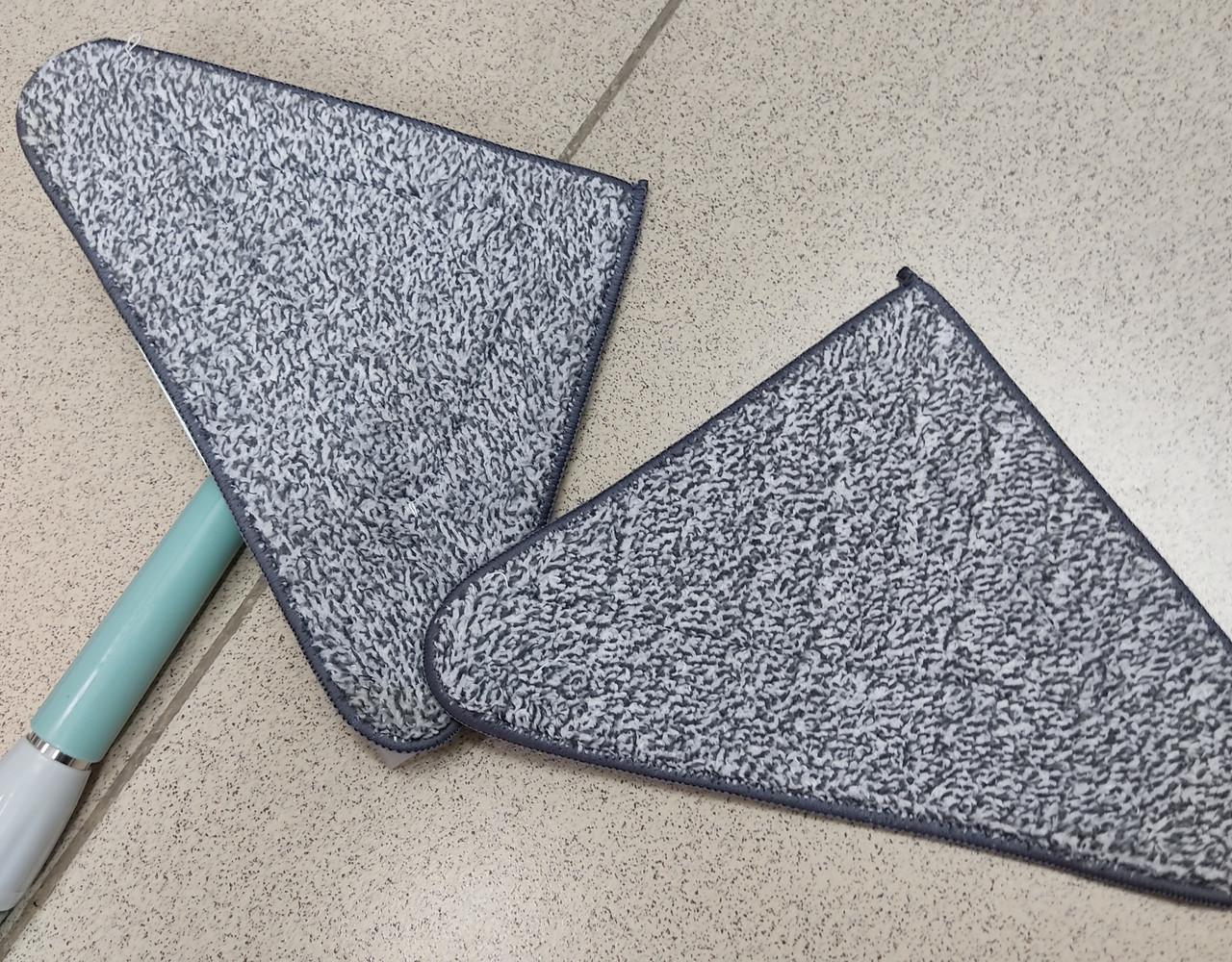 Швабра треугольная с насадкой для пола и окон
