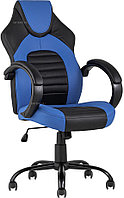 Кресло игровое TopChairs Racer Midi черно-синее