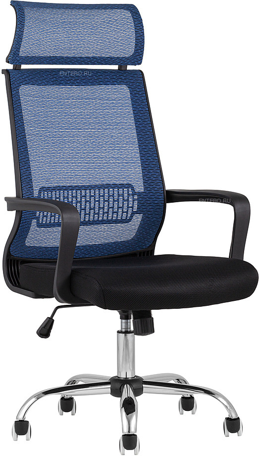 Кресло офисное TopChairs Style голубое