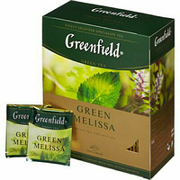 Чай зеленый Greenfield Green Melissa 100шт /2g