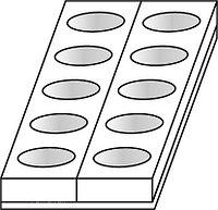 Форма для пирожных Martellato MONOP. A002 Овал