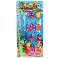 Детский игровой набор рыбалка 8 рыбок и 2 удочки с крючком в ассортименте