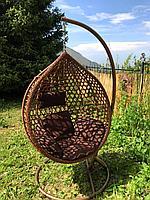 Подвесные качели (кокон) AW-02-L, коричневый