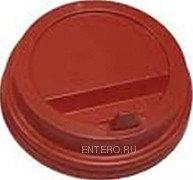 Крышка для стакана Интерпластик-2001 80 мм красная с носиком
