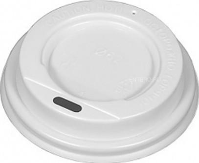 Крышка для стакана Атлас-Пак 61 мм белая без носика