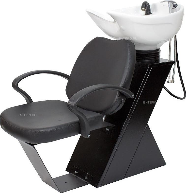 Мойка парикмахерская МЭДИСОН ДАСТИ с креслом СОЛО Модерн черным матовым