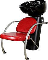 Мойка парикмахерская МЭДИСОН БИАТРИС Люкс с креслом КАРИНА красным лаковым текстурным