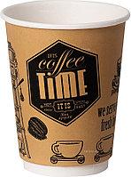 Стакан бумажный Классика-Опт 350 мл Coffee Time