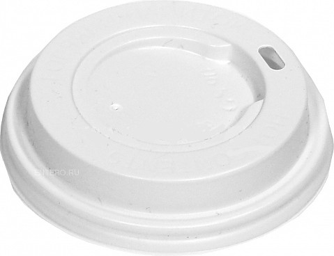 Крышка для стакана Грав-Сервис 90 мм белая без носика