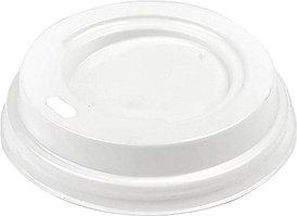 Крышка для стакана Интерпластик-2001 62 мм белая без носика
