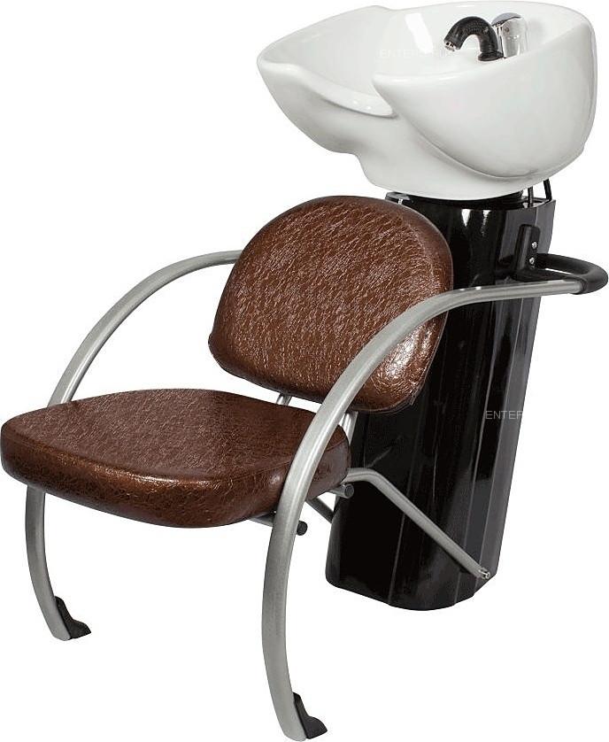 Мойка парикмахерская МЭДИСОН БИАТРИС Люкс с креслом КАРИНА коричневым лаковым текстурным