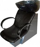 Мойка парикмахерская МЭДИСОН МД-32 с креслом ЛОРД черным матовым текстурным