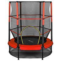 Батут ONLITOP, d=140 см, с внутренней защитной сеткой, цвет красный