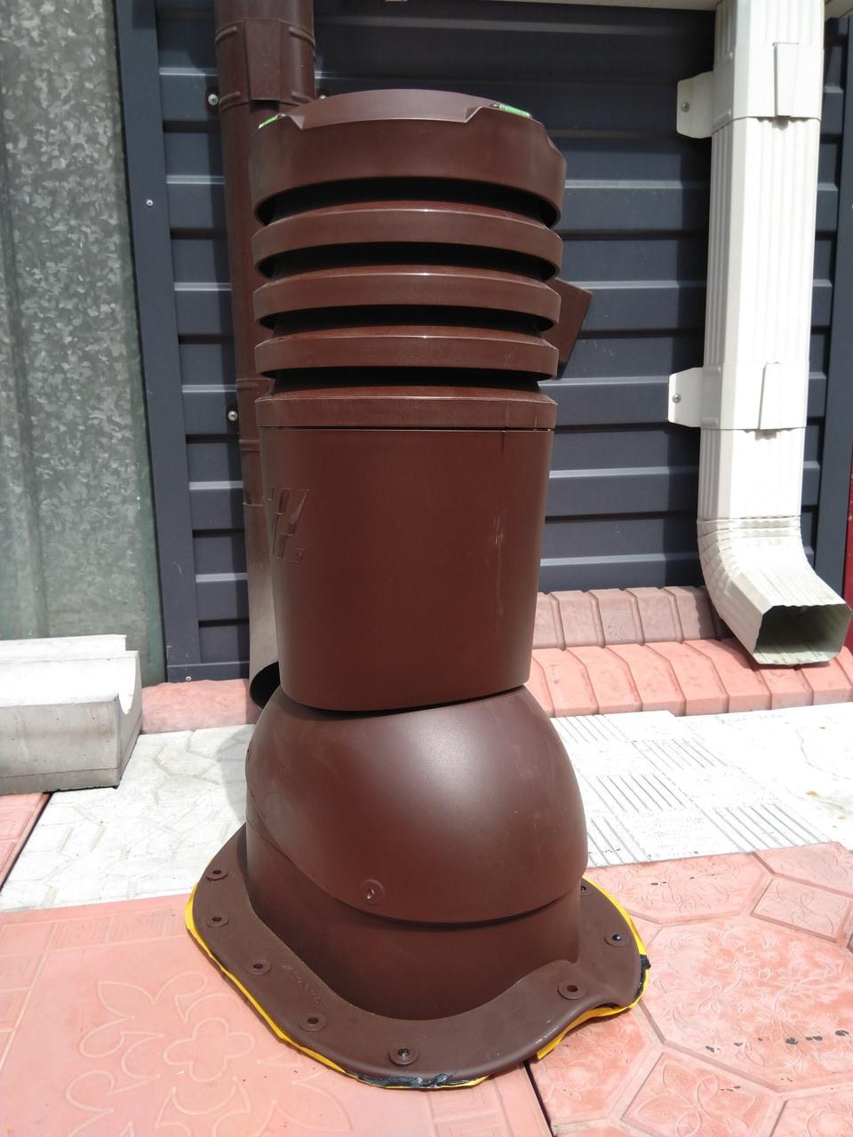 Вентиляционный выход для металлочерепицы  ECO KBN СуперМонтерей 125 Коричневый RAL 8017
