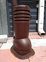 Вентиляционный выход для металлочерепицы  ECO KBN СуперМонтерей 125 Коричневый RAL 8017, фото 1