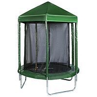 Батут ZABIAKA, d=183 см, с крышей, с сеткой высотой 170 см, цвет зелёный