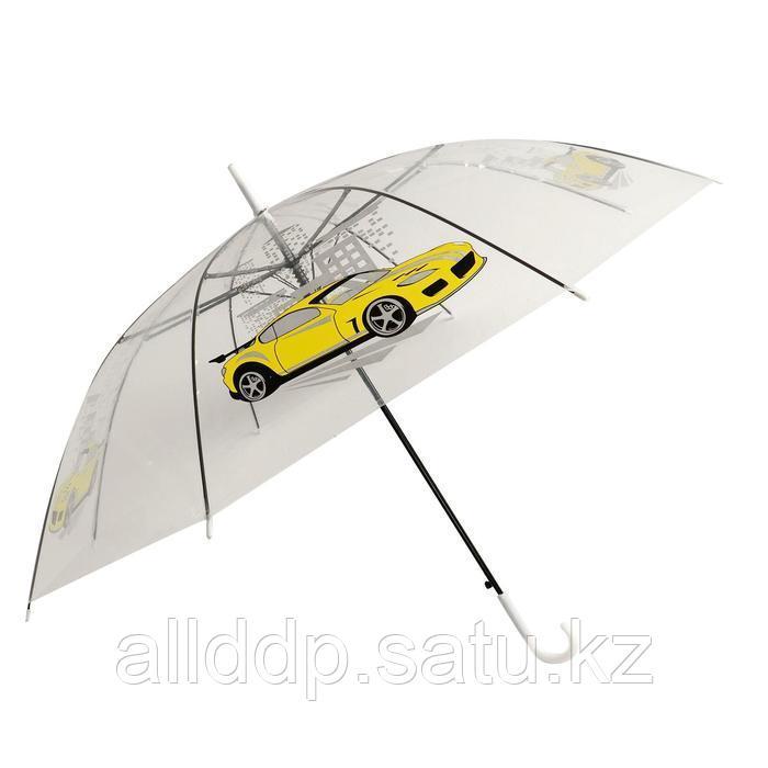 Зонт детский «Жёлтая машина» п/а прозрачный светоотражающий d=90 см