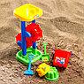 Набор для игры в песке: ведро, мельница, совок, грабли, 2 формочки, СМЕШАРИКИ цвет МИКС, 530 мл, фото 2