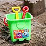 Набор для игры в песке: ведро, мельница, совок, грабли, 2 формочки, СМЕШАРИКИ цвет МИКС, 530 мл, фото 4
