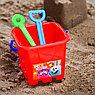 Набор для игры в песке: ведро, мельница, совок, грабли, 2 формочки, СМЕШАРИКИ цвет МИКС, 530 мл, фото 5