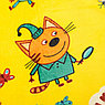 Плед Павлинка Три Кота Игра желтый 100х150см аэрософт, 190г/м пэ100%, фото 2