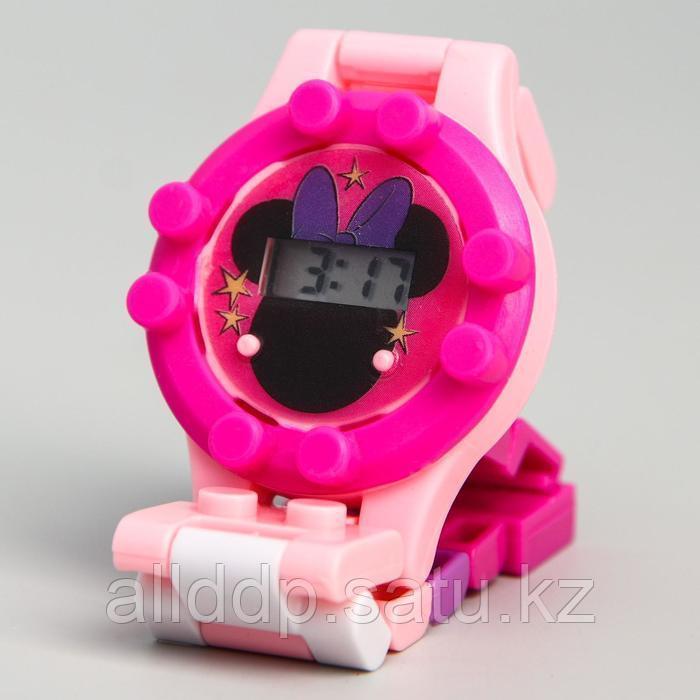 """Часы наручные электронные """"Единорог"""", Минни Маус, с ремешком-конструктором"""
