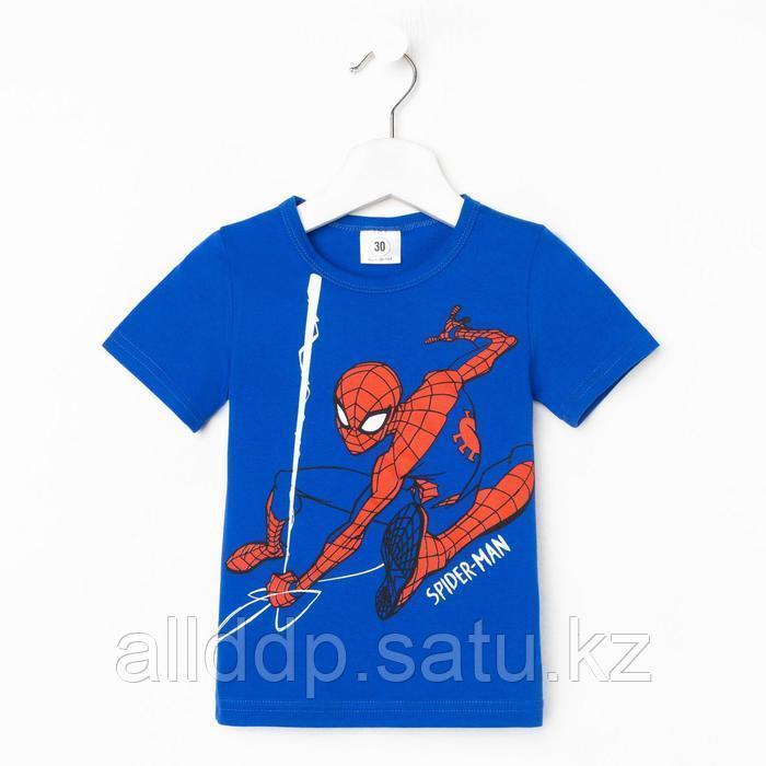"Футболка MARVEL ""Человек-паук"", рост 98-104 (30), синий"