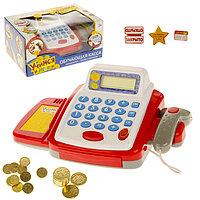 Обучающая касса-калькулятор «Учимся и играем», игрушечная, с аксессуарами, световые и звуковые эффек ...