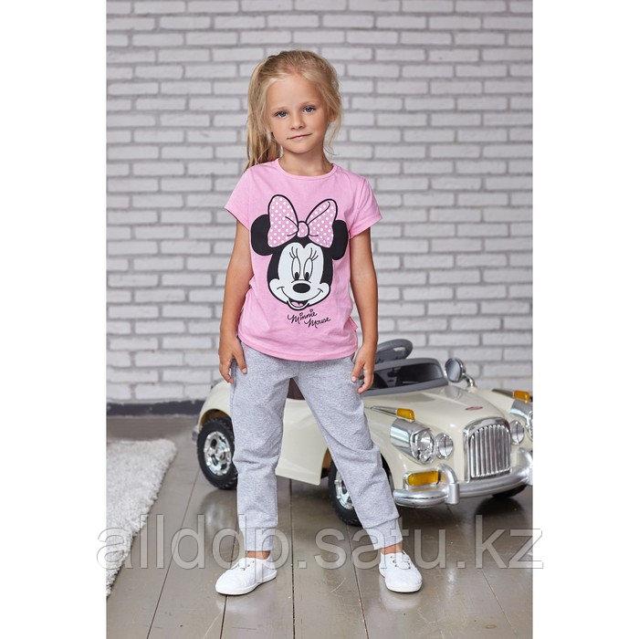 """Футболка детская Disney """"Minnie Mouse"""", рост 110-116 (32), розовый МИКС"""