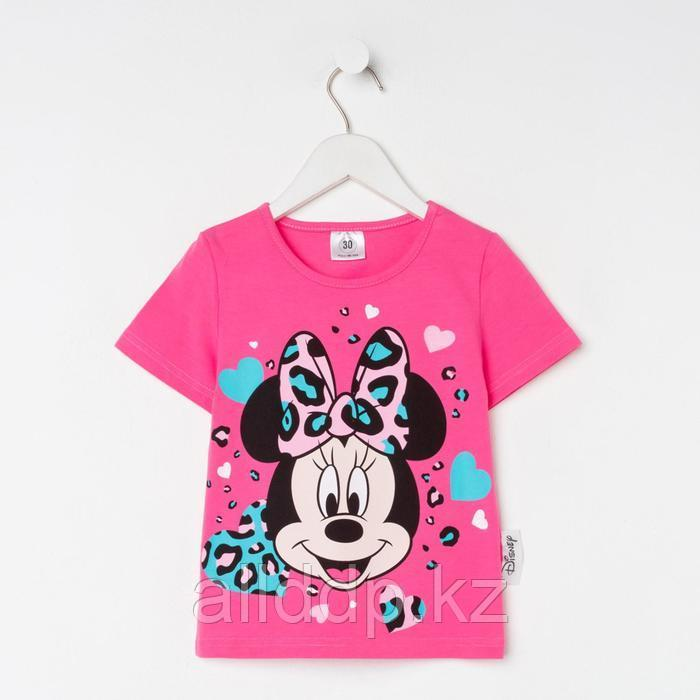 Футболка детская Minnie Минни Маус, рост 122-128, розовый