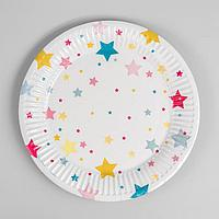 Тарелка бумажная «Звёзды», 18 см