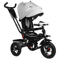"""Велосипед трёхколёсный Micio Comfort Plus, надувные колёса 12""""/10"""", цвет серый"""