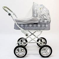 Универсальная москитная сетка на детскую коляску, цвет белый