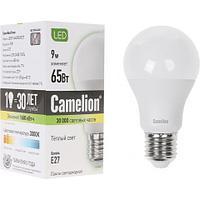 Эл. лампа светодиодная Camelion А60/3000К/E27/9Вт, Тёплый