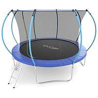Батут EVO JUMP Internal, d=366 см, с внутренней защитной сеткой и лестницей, цвет синий