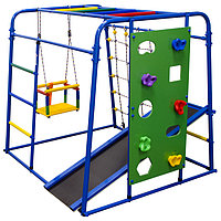Детский спортивный комплекс Start baby 2, 1200 × 1330 × 1230 мм, цвет синий/радуга