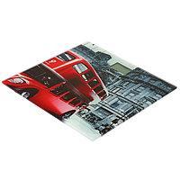 Весы напольные HOMESTAR HS-6001C, электронные, до 180 кг, 1хCR2032, стекло, красные Лондон