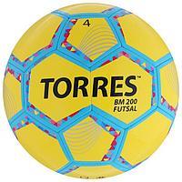 Мяч футзальный TORRES Futsal BM 200, размер 4, 32 панели, TPU, 4 подкладочных слоя, цвет желтый/зелё ...