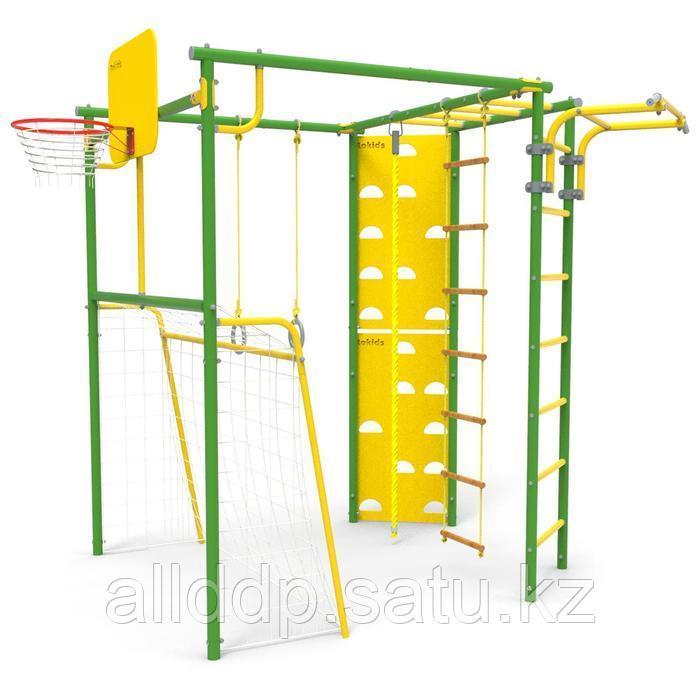Детский спортивный комплекс уличный-7 «Атлет-Т», цвет зелёный
