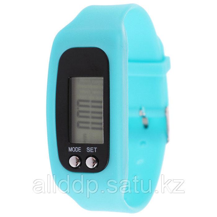 Шагомер-часы 25 х 1,5 х 4 см, цвета МИКС