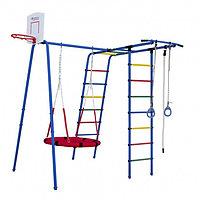 Детский спортивный комплекс уличный «Формула здоровья» Street 1 синий/радуга