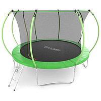 Батут EVO JUMP Internal, d=366 см, с внутренней защитной сеткой и лестницей, цвет зелёный