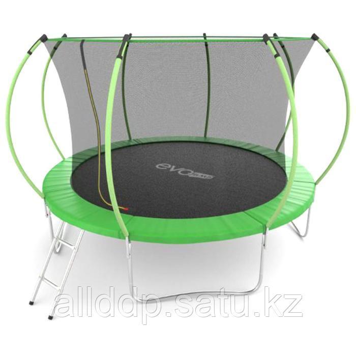 Батут EVO JUMP Internal, d=366 см, с внутренней защитной сеткой и лестницей, цвет зелёный - фото 1