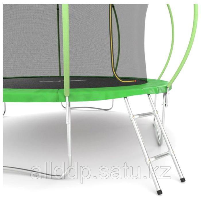 Батут EVO JUMP Internal, d=366 см, с внутренней защитной сеткой и лестницей, цвет зелёный - фото 2