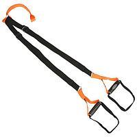 Петли для подвесного тренинга TORRES, эргономические нескользящие ручки, цвет черный/оранжевый