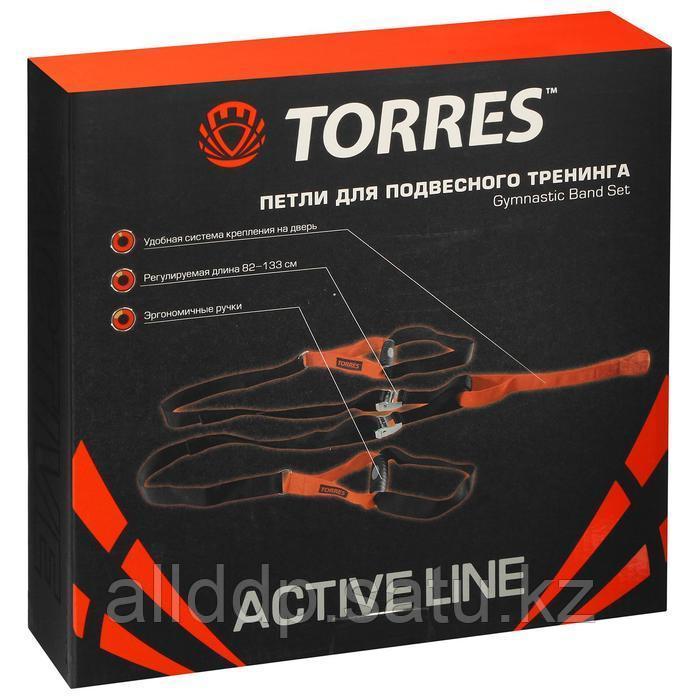 Петли для подвесного тренинга TORRES, эргономические нескользящие ручки, цвет черный/оранжевый - фото 2