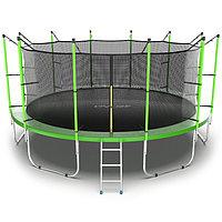 Батут EVO JUMP Internal, d=488 см, с внутренней защитной сеткой и лестницей, цвет зелёный