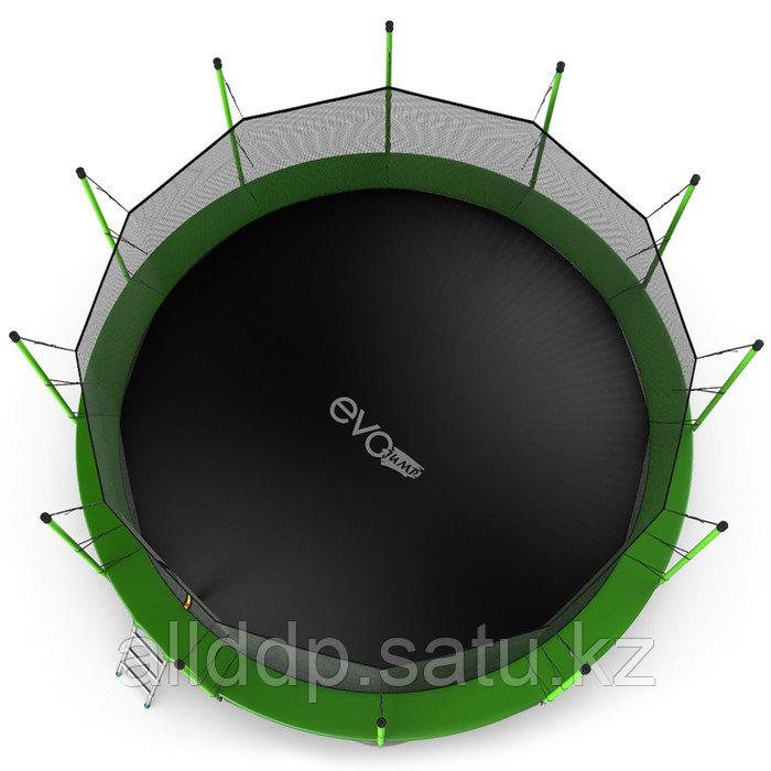 Батут EVO JUMP Internal, d=488 см, с внутренней защитной сеткой и лестницей + нижняя сеть, цвет зелё ... - фото 4