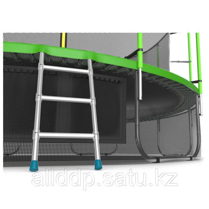 Батут EVO JUMP Internal, d=488 см, с внутренней защитной сеткой и лестницей + нижняя сеть, цвет зелё ... - фото 6